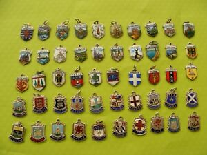 VARIOUS VINTAGE STERLING SILVER CHARM CHARMS UK TRAVEL SHIELD 1