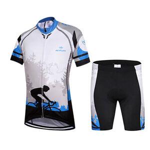 Kids Bike Clothing Short Sleeve Bicycle Jersey Padded Childs Cycling Shorts Kit