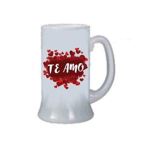 Boccale birra bicchiere scritta in spagnolo te amo san - Finestra in spagnolo ...