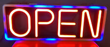 Hanging Mystiglo Open Light Up Sign No Remote Flashes Different Modes