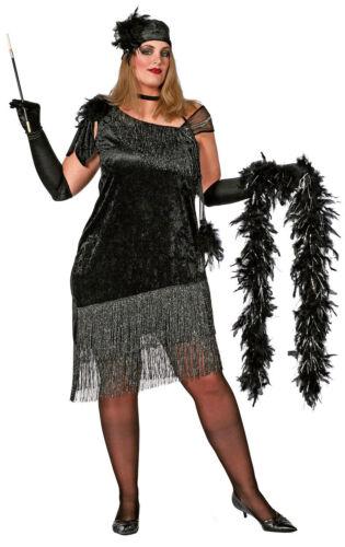XXL Charleston Diva Kostüm NEU Damen Karneval Fasching Verkleidung Kostüm