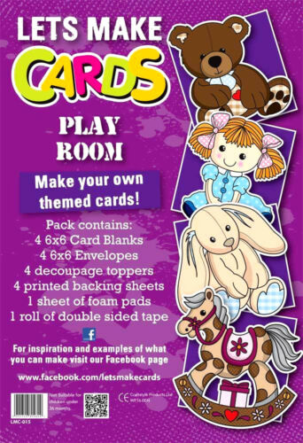 Complete Lets Make Cards birthday kit,childrens cut create decoupage Play room
