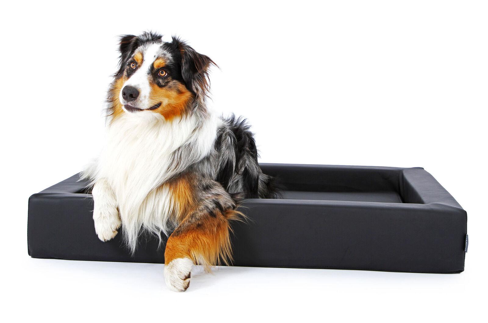 Hundekorb Hundebett Kunstleder, auch orthopädisch, Innenmatte herausnehmbar