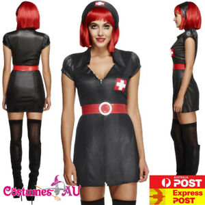 Surgeon Womens Fancy Dress Costume Outfit Scrubs Hospital Uniform Halloween E.R