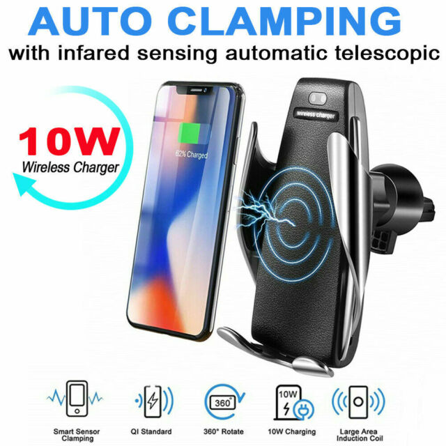 Rotate Automatic Clamping Wireless Car Charger Receiver Mount for iPhone  Android