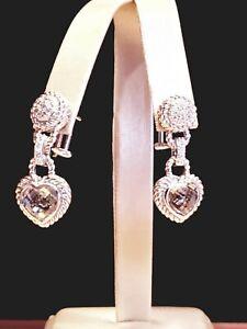 NEW-JUDITH-RIPKA-Sterling-Silver-Lemon-Topaz-Diamonique-Gems-Earrings