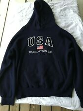 Washington DC USA Sweatshirt Hoodie Embroidered Unisex LARGE