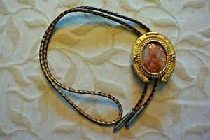 Vintage Western Polished Stone Bolo Tie