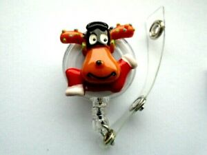 ID-Badge-Holder-Reel-Retractable-Recoil-Card-Holder-Christmas-2019-Rudolph-Xmas