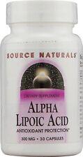 Source Naturals Alpha Lipoic Acid 300 mg 30 Capsule 30 cap