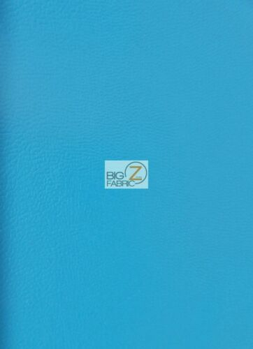 """54/"""" WIDTH UPHOLSTERY Turquoise SOLID SOFT FAUX FAKE LEATHER VINYL FABRIC"""