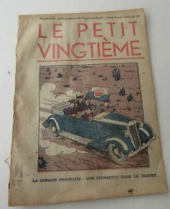 TINTIN-HERGE-LE-PETIT-VINGTIEME-NO-35-1936-BON-ETAT