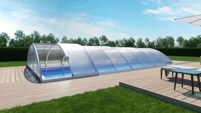 Retractable Pool Enclosure Pool Covers Telescopic Made In Europe Ebay