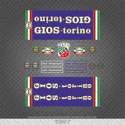 White Decals 07113 Alfredo Gios Signature Bicycle Stickers Transfers