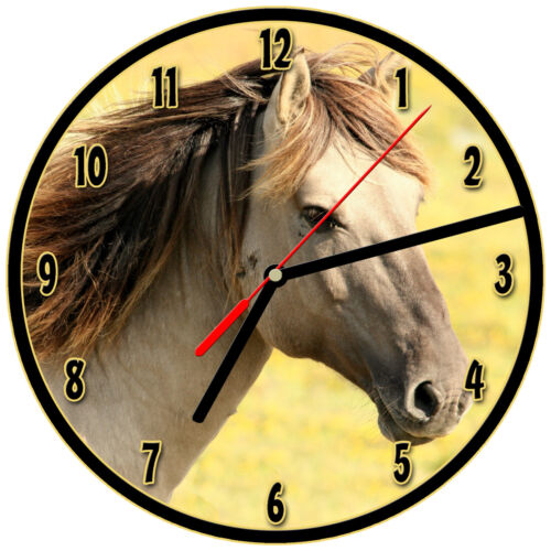 "8/"" WALL CLOCK Horse #SN10 Horses Equestrian Rider Colt Filly Pony Mare Pony"
