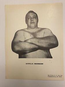 gorilla monsoon promo photo 8x10 Wwwf Wwf Vtg Wrestling Original