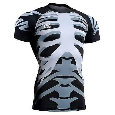 FIXGEAR CFS-55 Compression Base Layer Short Sleeve Shirts, Workout Fitness MMA