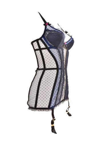 Black Bcf88 Provocateur Women's Rrp £560 32c Uk Corset blue 635409246560 Elegant Agent Size I1qdIP