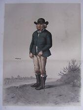 1872 PRINT SWEDISH PEASANT COSTUME ~ HARJAGER DISTRICT Skanska Folkdragter