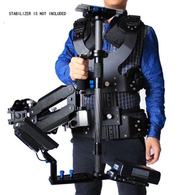 1-7.5kg Steadicam Vest +Dual Arm, Carbon Fiber Stabilizer Video Camera DSLR