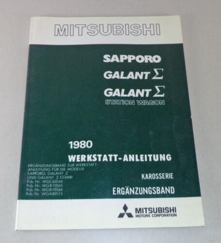Officina Manuale MITSUBISHI SAPPORO//Galant Sigma//Station Wagon suppletivo 1980