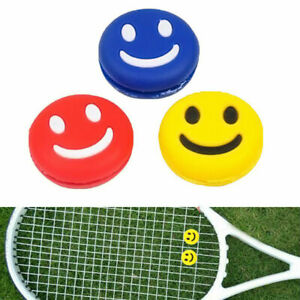 1X-Silicone-Smiley-Happy-Face-Tennis-Racquet-Dampener-Abso-Vibration-Useful-Z9Z7