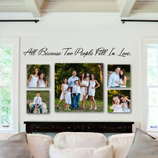 All Because Two People Fell In Love Wall Sticker Inspired Quote Vinyl Art Decor