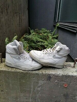 Vintage 1988 Nike Air Delta Force White Grey Collectible Basketball Shoes | eBay
