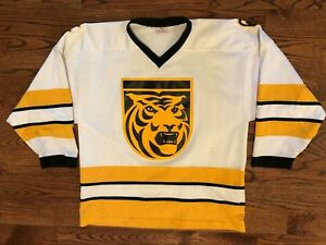 reputable site 8f65e 1f002 Details about Colorado College Tigers Hockey VTG K1 Sportswear Stitched  Logo Jersey Men's L