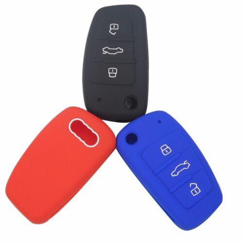 Silicone Car Key Fob Cover Case Skin Sticker For Audi Audi A1 A3 Q3 Q7 R8 A6L TT