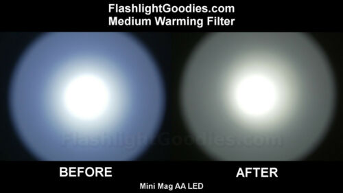 Neutral White Warming Filter for Mini Maglite AA LED Flashlight