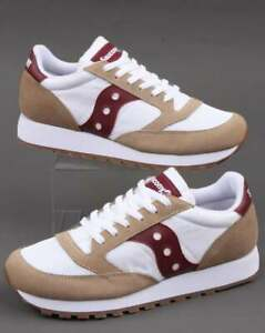 Saucony-Jazz-Vintage-Trainers-in-White-amp-Burgundy-retro-classic-runners-shoes