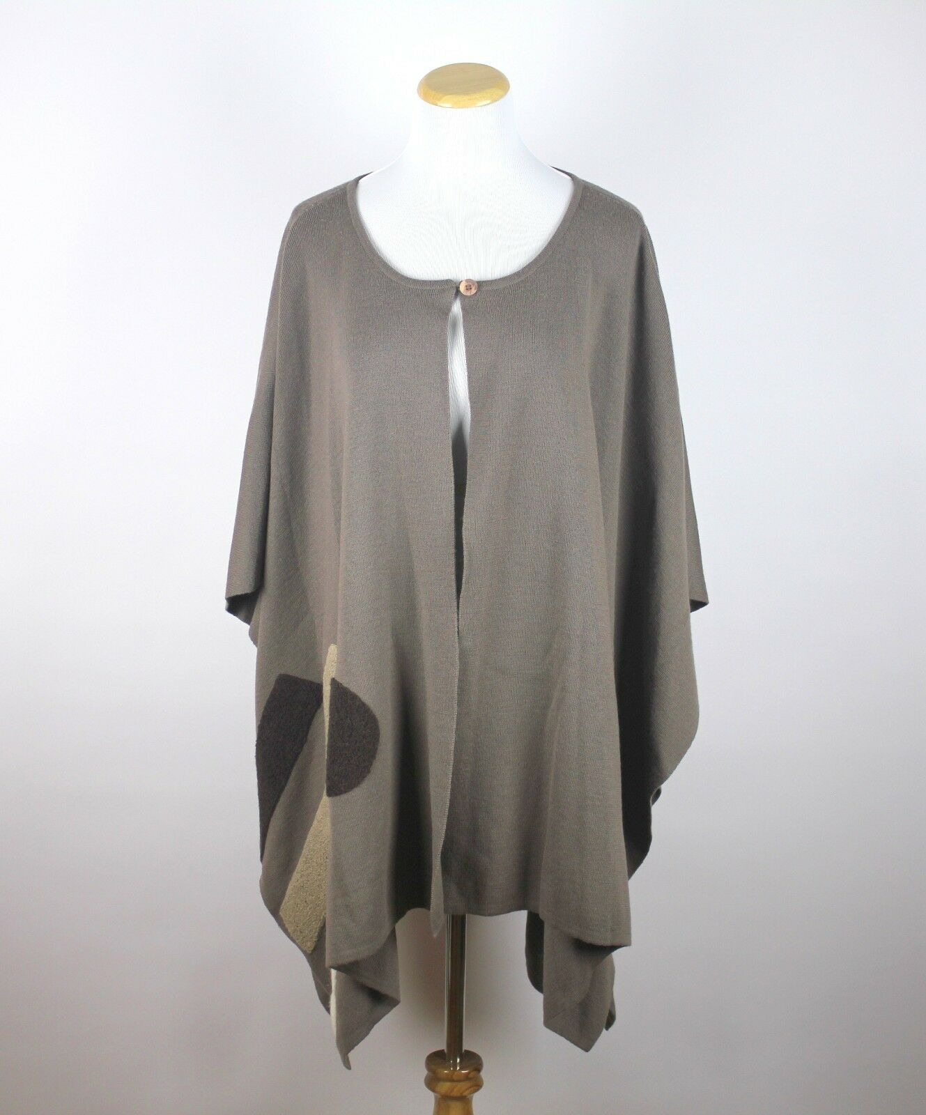ANIMALE by Jacques Ruc Draped Poncho 50% Wool Sweater LAGENLOOK Size Medium