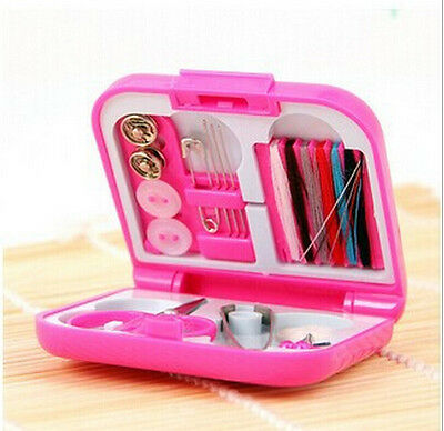 Mini Cute Portable Sewing Kits Box Color Needle Threads Sets Travel Home Tools