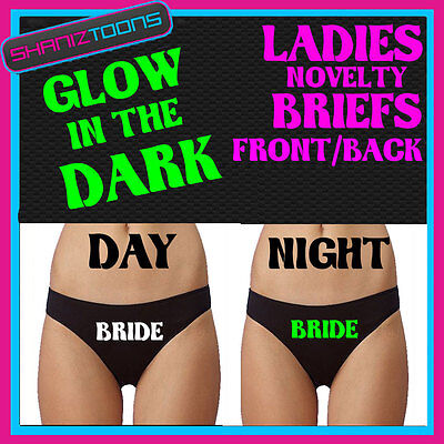 Personalised Knickers Brief Panties Bling Rhinestone Novelty Bride Hen Party Do