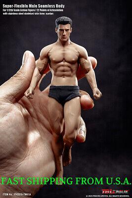 1//6 Phicen Super Flexible Male Female Seamless Muscular Body Steel Skeleton 12/'/'