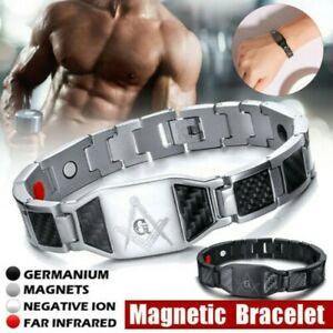 4-in1-Bracelet-Magnetique-Carbone-Fibre-Carpien-Tunnel-Arthrite-Therapie