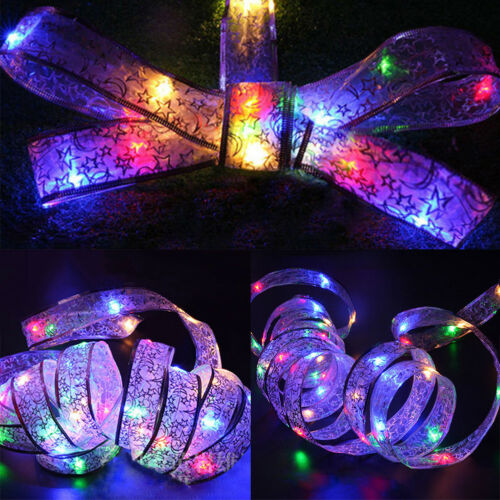 4M Mini LED Seidenband Lichterkette Party Geburtstag  Deko Lights Kupferdraht