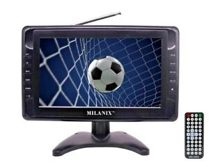 Milanix-9-034-Portable-Widescreen-LCD-TV-w-Digital-TV-Tuner-amp-USB-SD-Slot-amp-AV-In