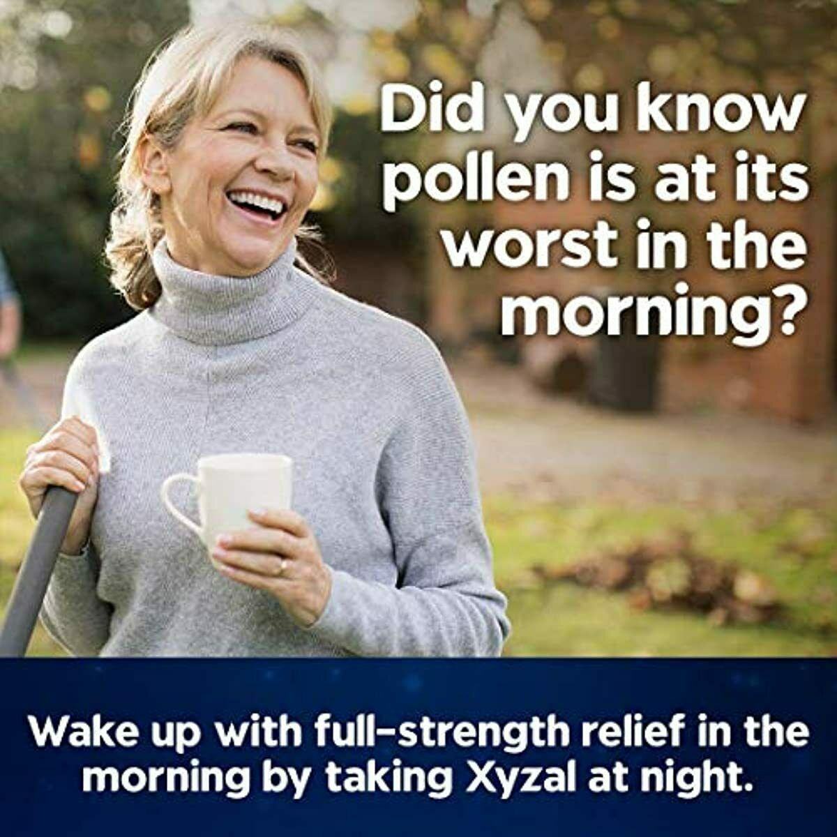 Xyzal Allergy Medicine Tablet 24 Hour Day Night Relief Health Care 80 Count New