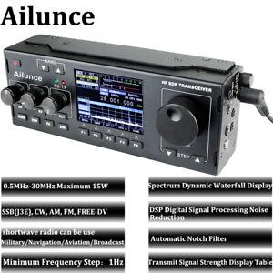 Ailunce Hs1 Sdr Hf Ham 15w Transceiver Transmit Maximum 0 5mhz 30mhz Tune Radio Ebay