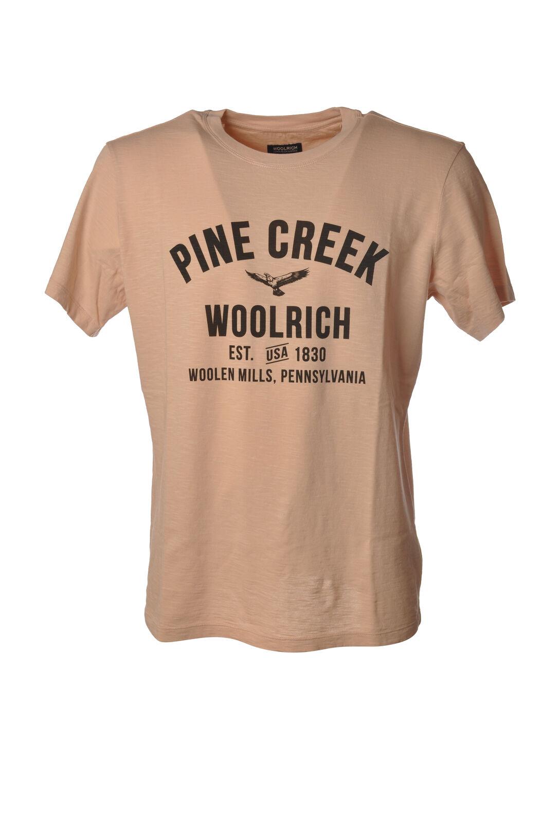 Woolrich - Topwear-T-shirts - Man - Pink - 6067003E191032