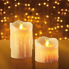 JML Miracle Flame Flameless Flickering Battery Operated Real Wax Candles 2 Pack