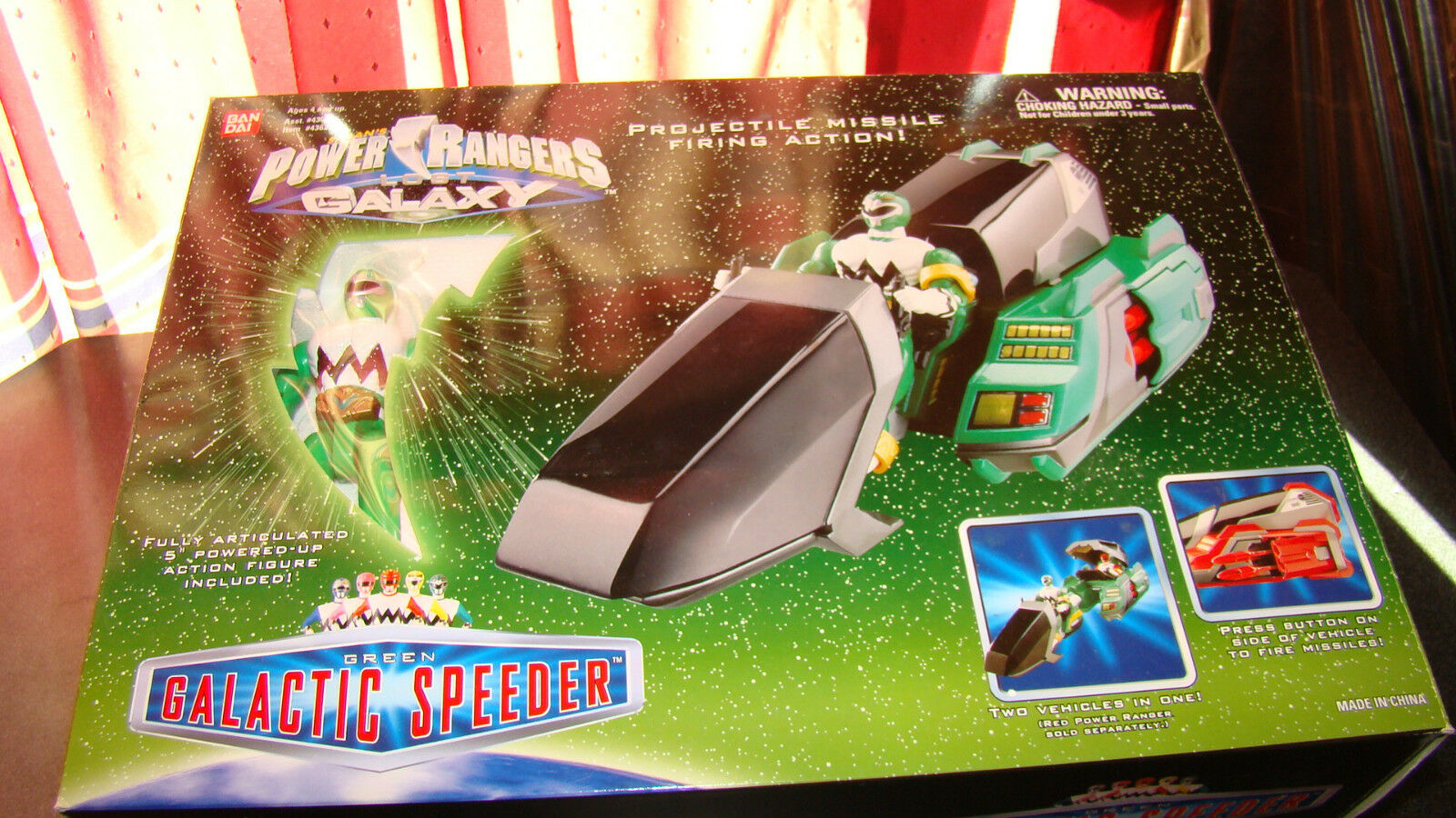 Power Rangers Lost Galaxy verde Galactic Speeder  RARE