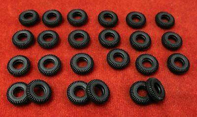 Small Treaded Tires for Dinky Toys 15mm Lot of 24 black