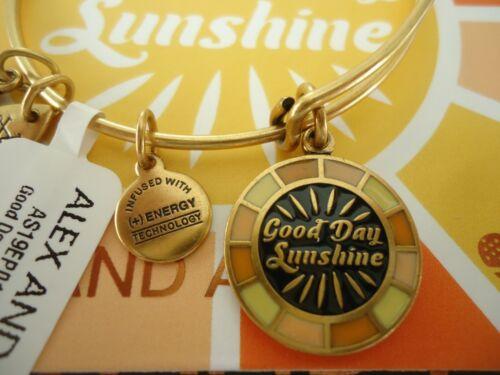 Lennon Alex And Ani GOOD DAY SUNSHINE Russian Gold Charm  New W// Tag Card /& Box