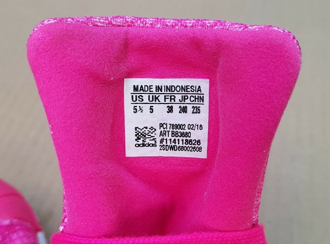Adidas superstar shell i 5 formatori rosa a dimensioni 5 i uk eccellente condizione c9d777