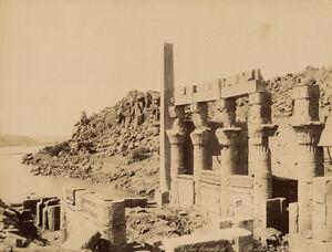 Photo-Zangaki-Albumine-Egypte-Philae-Temple-Isis-Vers-1875-80