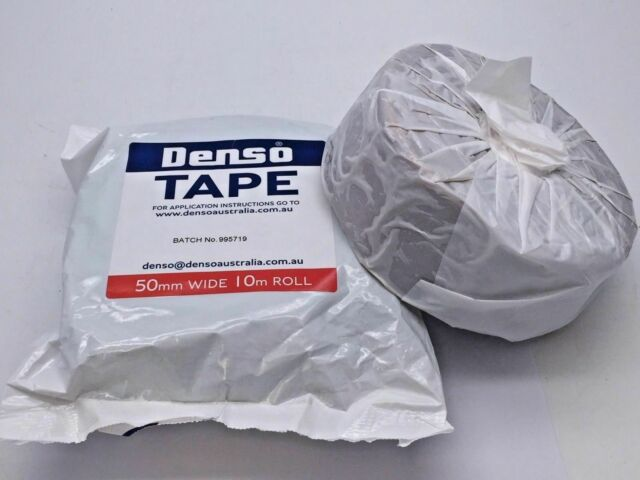 Denso Tape Grease 50mm x 10m Metal Pipe Anti-corrosion Waterproof 2 Rolls