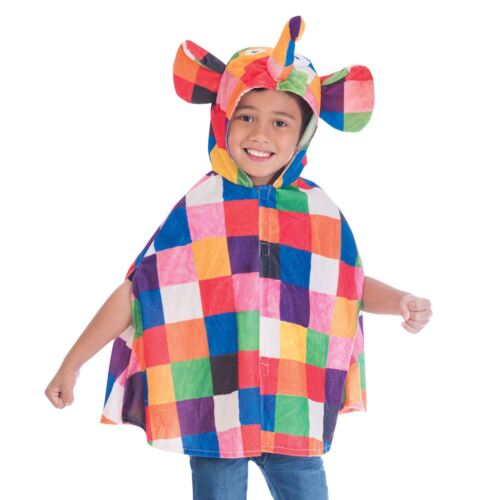 Girls Boys 2-6 Years Elmer the Patchwork Elephant Book Week Fancy Dress Costume